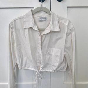 Urban Outfitters Cropped Button-Down Shirt, Size M